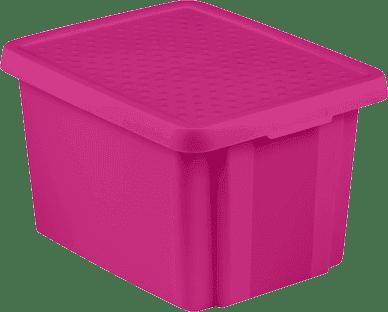 CURVER Úložný box s vekom Essentials 26l, fialový