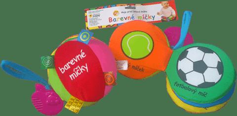 KNIHA Látkové leporelo - Barevné míčky