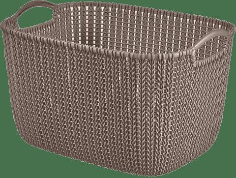 CURVER Koszyk prostokątny Knit 19l, brązowy
