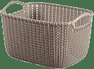 CURVER Košík obdélníkový Knit 8l, hnědý