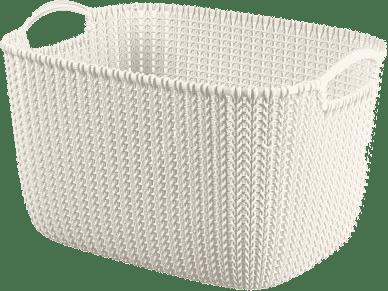 CURVER Košík obdĺžnikový Knit 19l, biely
