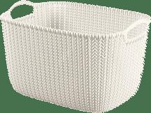 CURVER Koszyk prostokątny Knit 8l, biały