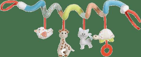 VULLI Špirála žirafa Sophie s aktivitami