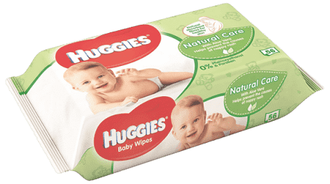 HUGGIES® Single Natural Care, 56 ks - vlhčené ubrousky