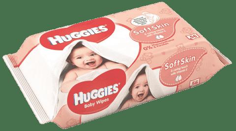 HUGGIES® Single Soft Skin, 56 ks - vlhčené obrúsky