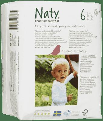 NATY NATURE Babycare 6 JUNIOR, 18 ks (16 - 27 kg) - jednorazové plienky