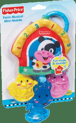 FISHER-PRICE Závesná hračka - zvieratká z farmy