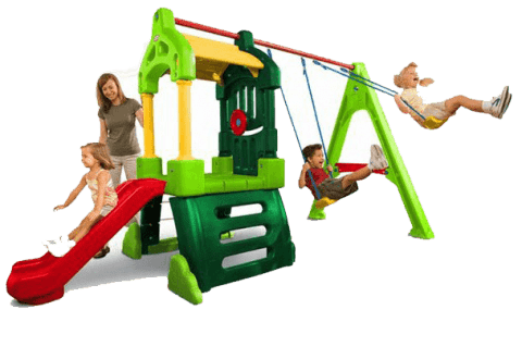 MGA Hrací centrum Clubhouse Swing Set Natural