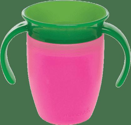 MUNCHKIN – Kubek niekapek dla dzieci 360° z uszami 207ml – różowy