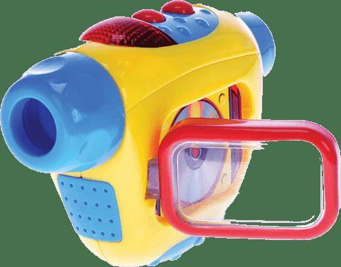 MIKRO TRADING Kamera wideo ze światłem i dźwiękiem - żółta