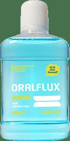 ORALFLUX Junior Owoce i mięta 90 ml Płyn do płukania jamy ustnej