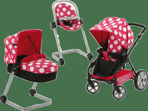HAUCK Zestaw Icoo - wózek, fotelik samochodowy, w kropki