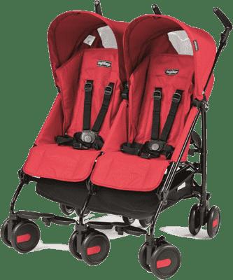 PEG-PÉREGO Wózek bliźniaczy Pliko Mini Twin Classico Mod Red