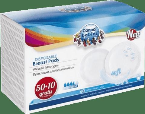 CANPOL BABIES 1/652 Tampóny do podprsenky anti-slip 50 + 10 ks