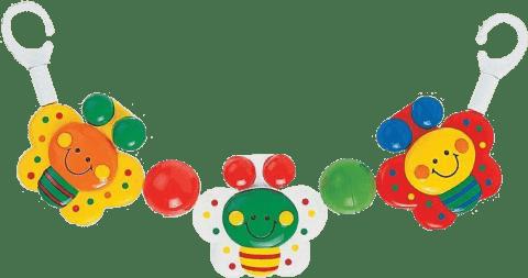CANPOL Babies Chrastítko do kočárku kuře, motýl,mix