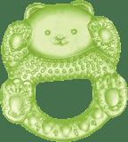 CANPOL Babies 2/204 Chladiace hryzadlo medvedík – zelená