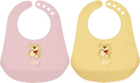 CANPOL BABIES 2/404 Plastový podbradník dievčatko - rôzne druhy