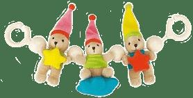 CANPOL Babies Hrkálka do kočíka plyšové medvedíky s hviezdičkou