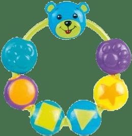 CANPOL Babies Chrastítko medvídek a korálky – modrá
