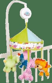 CANPOL Babies Kolotoč plyšový s baldachýnom Safari