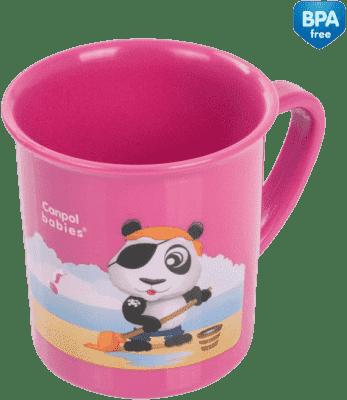 CANPOL Babies plastikowy kubek z motywem piratki, różowy dla dziewczynki