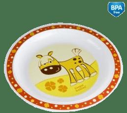 CANPOL Babies Plastový tanier - červená