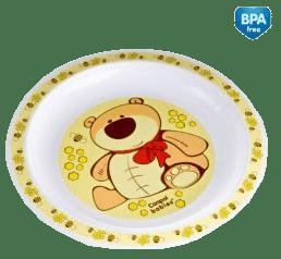 CANPOL Babies 4/411 Plastový tanier - žltá