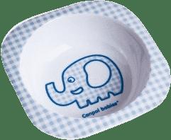 CANPOL Babies Melamínová miska štvorcová - modrá