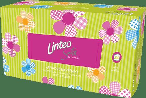LINTEO Chusteczki higieniczne, białe, dwuwarstwowe, papierowe pudełko (box), 200 szt.