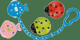 CANPOL Babies Řetízek na šidítko BERUŠKA – zelená