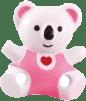 CANPOL Babies Řetízek na šidítko medvídek se srdíčkem – růžová