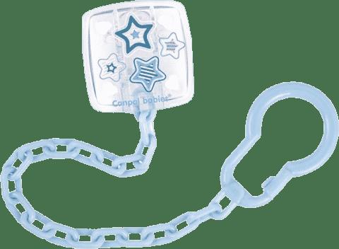 CANPOL Łańcuszek do smoczka Newborn Baby – niebieski