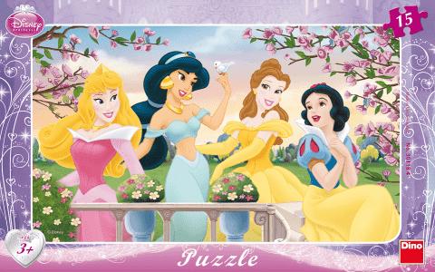 DINO Puzzle Planszowe Księżniczki 15szt