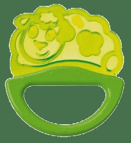 CANPOL Babies Hrkálka s hryzátkom new - zelené