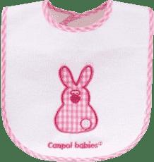 CANPOL Babies Bryndák froté/EVA folie slon/králík suchý zip – zajíček