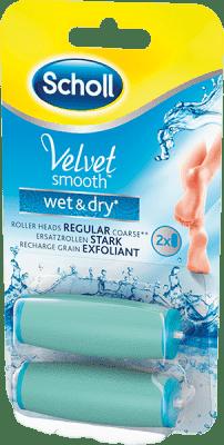 SCHOLL Velvet Smooth Náhradní hlavice do el. pilníku do vody Hrubé 2 ks