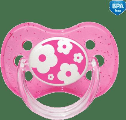 CANPOL BABIES 22/410 A - Cumlík silikónový čerešnička 0-6m NATURE – ružová