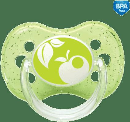 CANPOL Babies A - Šidítko sil. třešinka 0-6m NATURE – zelené