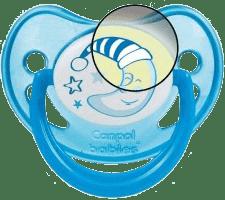 CANPOL Babies C - Cumlík silik. anatomické 18 m + Night Dreams - modré