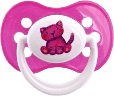 CANPOL Babies C - Cumlík silik. symetrické 18+ m MILKY - ružová