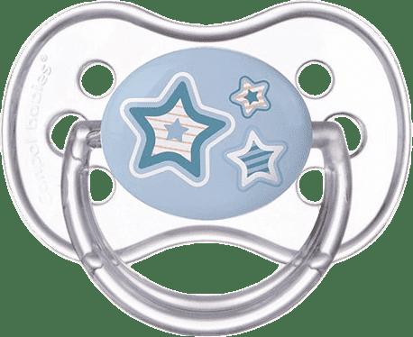 CANPOL BABIES Šidítko silikonové třešinka 18 m+ NEWBORN BABY – modré