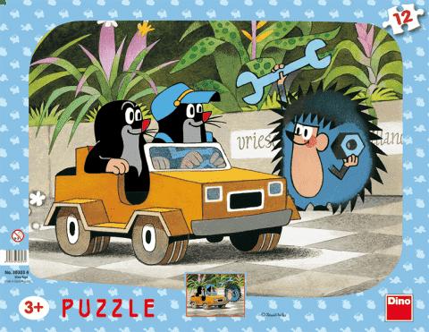 DINO Puzzle Planszowe Krecik i autko