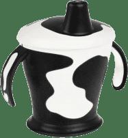 CANPOL BABIES Nevylévací hrníček kravička- černá 250 ml