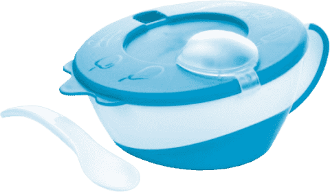 CANPOL Babies Miska s lžičkou- modrá