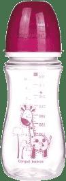 CANPOL Babies Láhev EasyStart jednobarevná 300 ml bez BPA- růžová