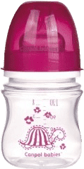 CANPOL Babies Fľaša EasyStart jednofarebná 120ml bez BPA holka