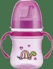 CANPOL Babies Tréningový hrnček EasyStart zvieratka 120ml - ružová