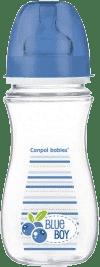 CANPOL Babies Fľaša EasyStart Fruits 300 ml bez BPA- modrá