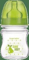 CANPOL Babies Fľaša EasyStart Fruits 120ml bez BPA- zelená