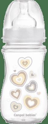CANPOL Fľaša EasyStart Newborn baby 240ml 0% BPA - biele viečko